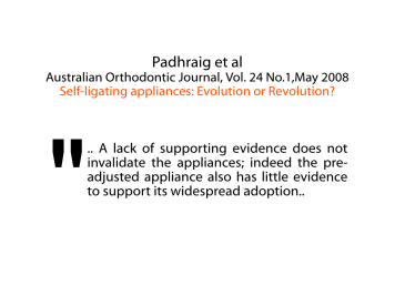 Padhraig et al, Australian Orthodontic Journal, Vol. 24, No.1, May 2008
